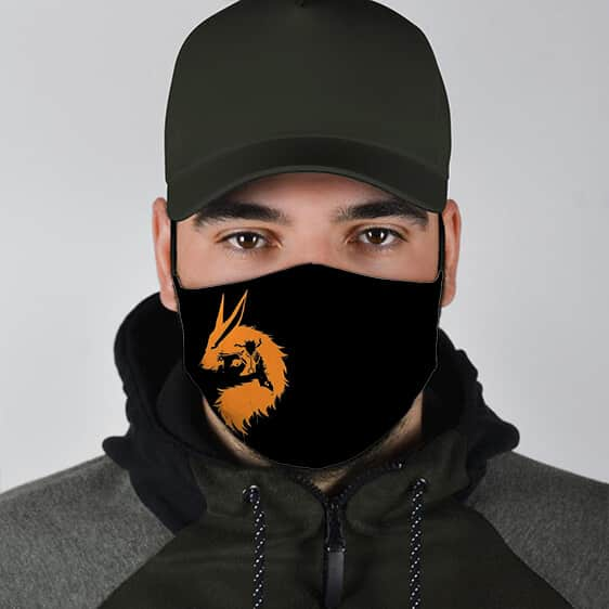 Kurama and Naruto Silhouette Amazing Naruto Cloth Face Mask