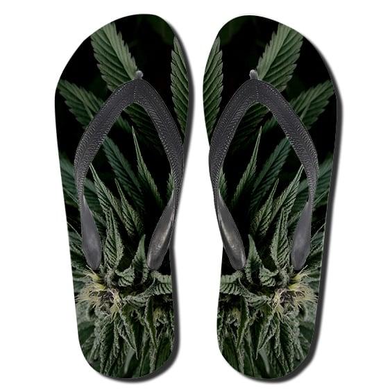 3D Marijuana Hemp Leaf Dope 420 Weed Flip Flop Sandals