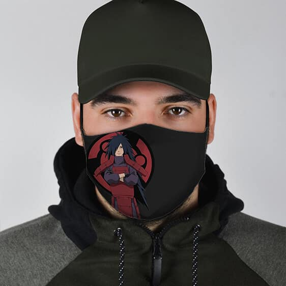 Fierce Madara Uchiha Symbol Ultimate Naruto Cloth Face Mask