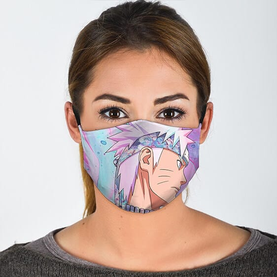 Flower Patterned Pink Colored Naruto Awesome Cloth Face Mask