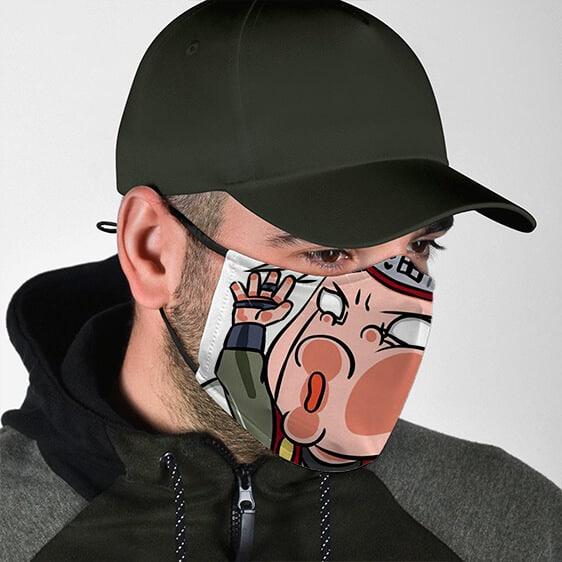 Funny Jiraiya Face Splat Cool and Quirky Naruto Face Mask