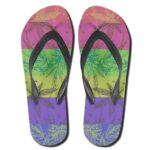 Ganja Weed Color Invert Art Pattern Flip Flops Sandals