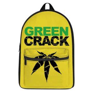 Green Crack Reverse Weed Symbol Yellow 420 Rucksack