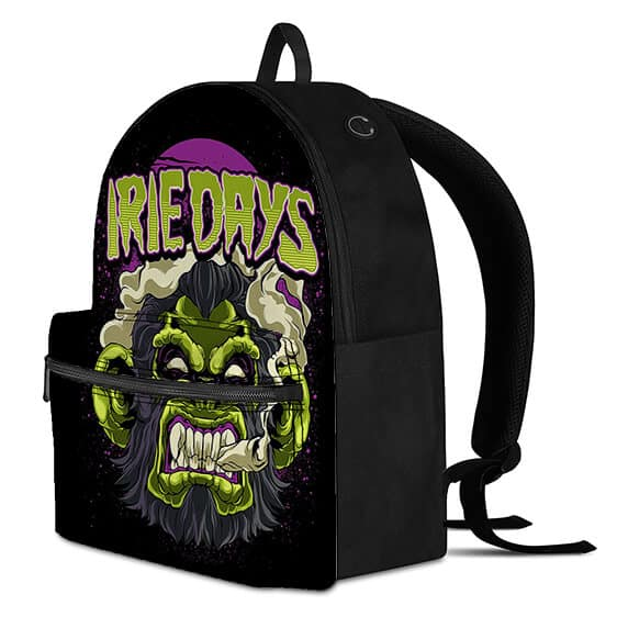 Green Gorilla Smoking Blunt Irie Days Most Awesome Backpack