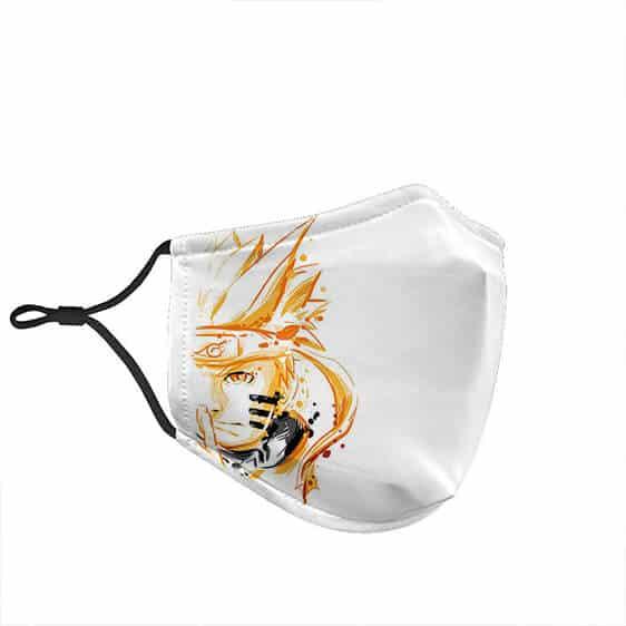 Naruto Half Face Kurama Form Excellent Filtered Face Mask