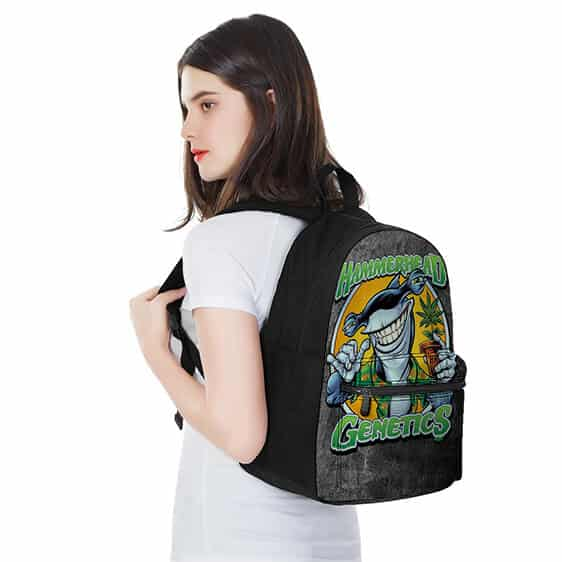 Hammerhead Genetics Shark with Weed Plant Most Dopest Backpack