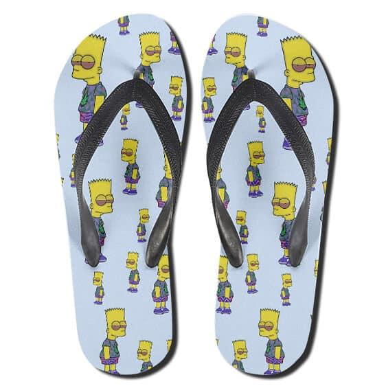 High Bart Simpson Bloodshot Eyes Weed Flip Flops Slippers