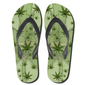 High Cannabis Leaves Pattern 420 Flip Flops Sandals