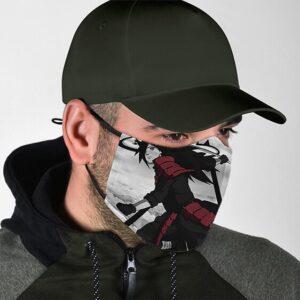 Intimidating Madara Uchiha Battle Stance Naruto Face Mask