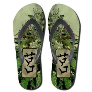 Japanese Ganja Kush Art Marijuana Flip Flops Sandals