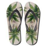 Japanese Marijuana Symbol Dope 420 Flip Flops Sandals