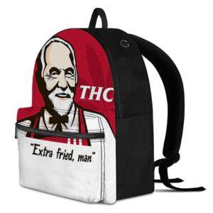 KFC Spoof Marijuana Hemp THC Dope White Backpack