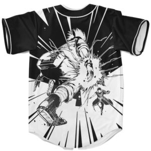 Kakashi Fighting Obito Black And White Dope Baseball Jersey