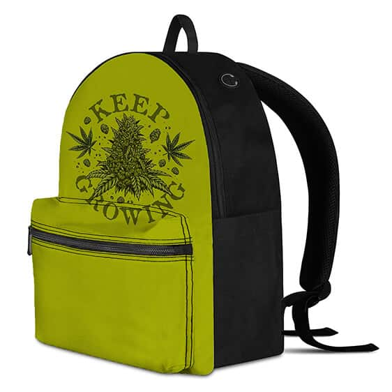 Keep on Growing Hemp Buds Marijuana Cool and Dope Backpack