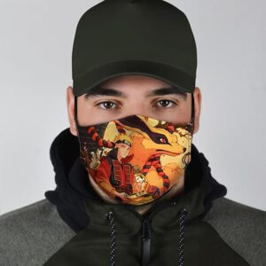 Kurama Pakkun and Naruto Chilling Excellent Filter Face Mask