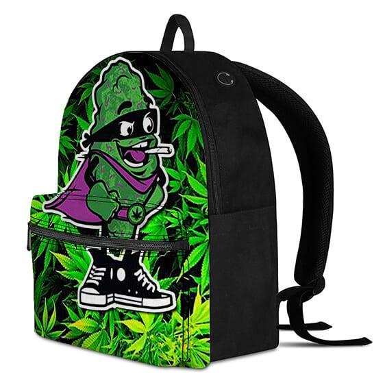 Kush Man Having Spliff Marijuana Background Awesome Backpack