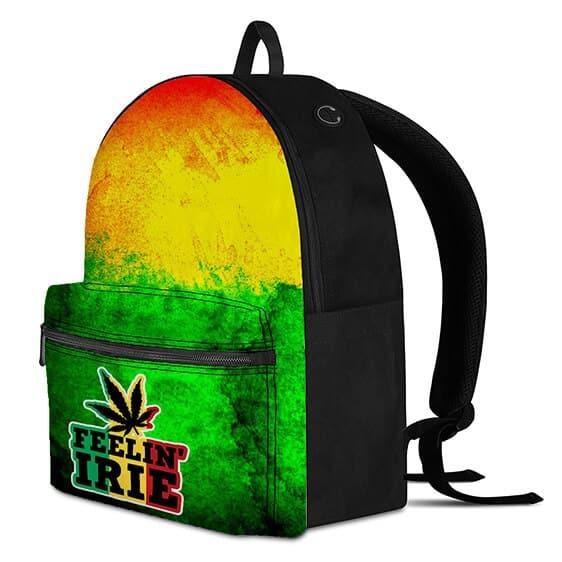 Marijuana Feelin' Irie Rastafarian Dope Weed Rucksack