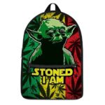 Master Yoda Stoned I Am Rastafarian Weed Background Backpack