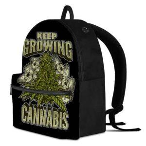 Money And Kush Keep Growing Cannabis Black 420 Backpack