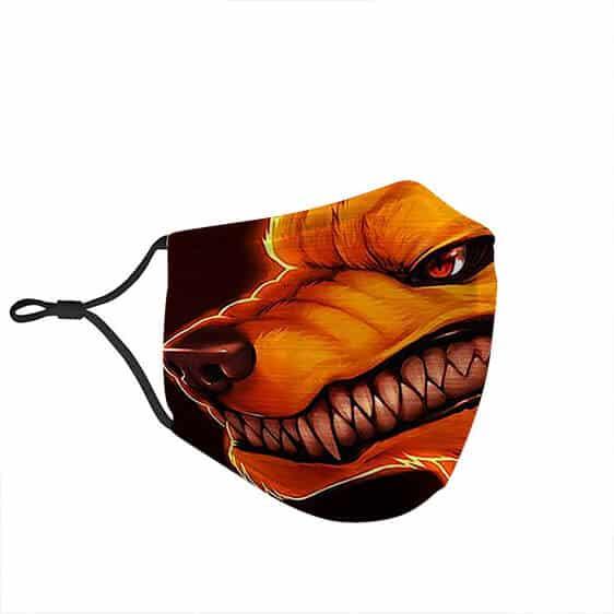 Realistic Fierce Kurama Nine-Tailed Fox Naruto Face Mask