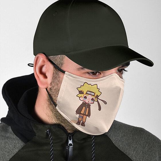 Crying Chibi Naruto Uzumaki Cute Light Brown Face Mask