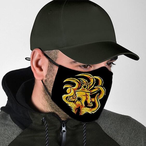 Nine Tails Kurama Sage Mode Fierce Powerful Face Mask