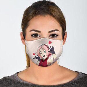 Carefree Sakura Haruno Adorable Naruto Shipudden Face Mask