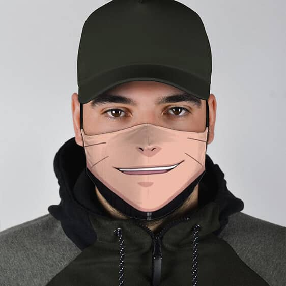 Naruto Uzumaki Lower Smiling Face Quirky Face Mask