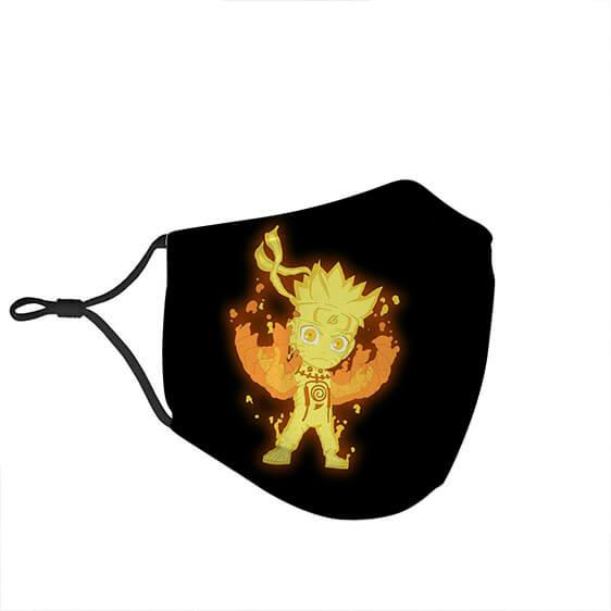 Naruto Nine Tail Chakra Form Powerful and Fierce Face Mask