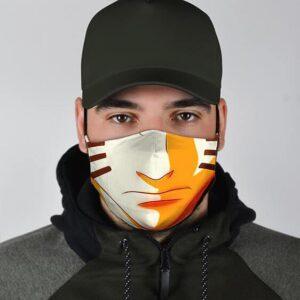 Naruto Nine Tail Fox Chakra Mode Lower Face Dope Face Mask