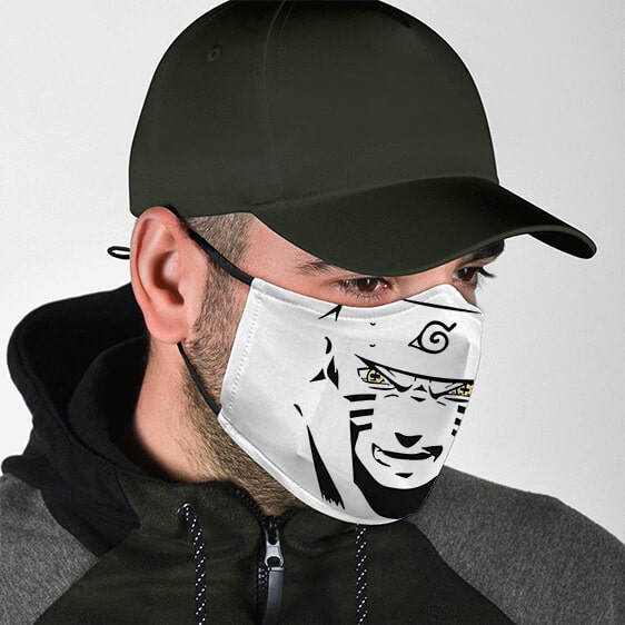 Naruto Nine Tails Chakra Face Outline Cool Cloth Face Mask