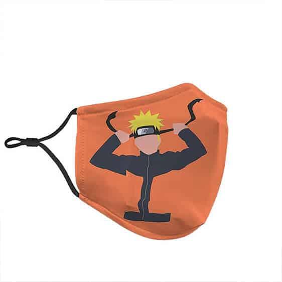 Naruto Uzumaki Pop Art Orange Silhouette Amazing Face Mask