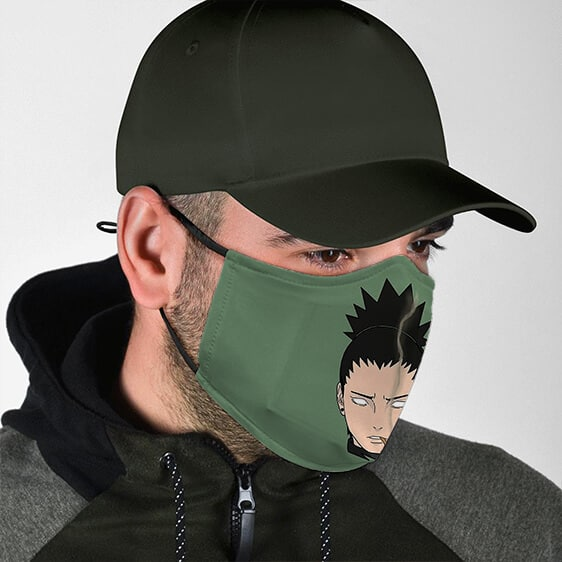 Smoking Cigar Shikamaru Head Naruto Shipudden Face Mask
