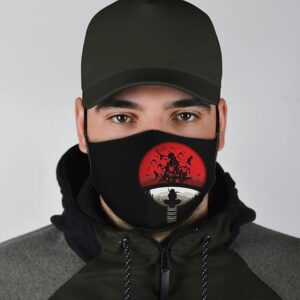 Itachi With Uchiha Clan Silhouette Dope Naruto Face Mask
