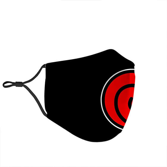 Naruto Uzumaki Clan Symbol Black Red Awesome Face Mask