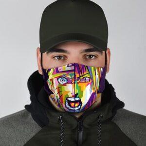 Naruto and Sasuke Pop Art Cool Intense and Awesome Face Mask