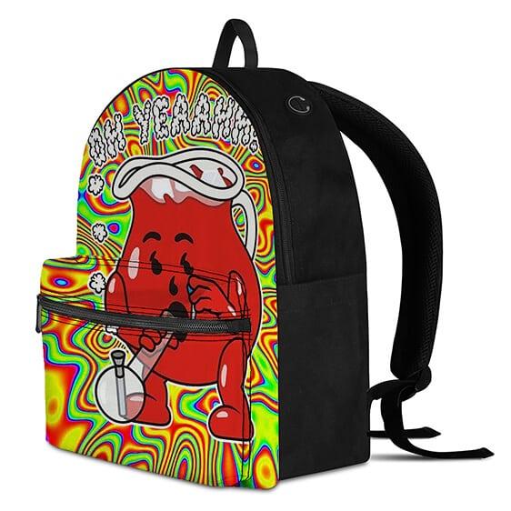 Oh Yeah Mr. Kool Aid Man Smoking Weed Psychedelic Backpack