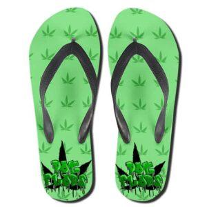 Pot Flops 420 Marijuana Green Weed Flip Flops Sandals