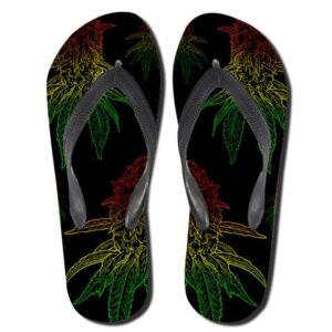 Rastafarian Colours Ganja Kush Flip Flops Slippers
