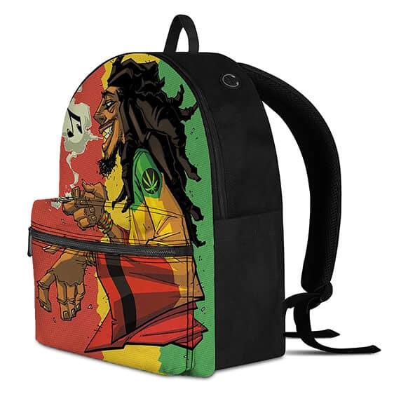 Rastaman Smoking a Spliff of Weed Rastafarian Dope Backpack
