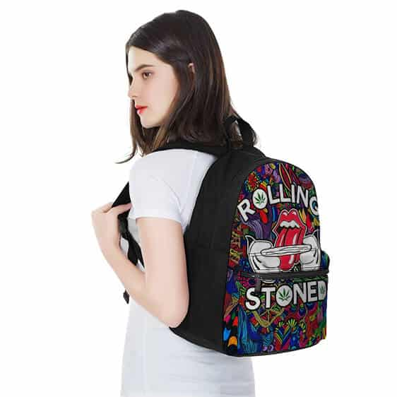 Rolling Stoned Fifty Licks Colorful Psychedelics Backpack