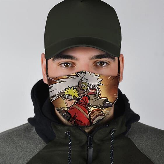 Sage Mode Naruto Fukusaku and Jiraiya Fierce Ninja Face Mask
