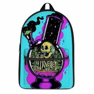 Skeleton Smoking Weed Inside A Bong Epic Cannabis Backpack