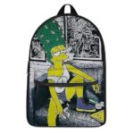 Stoned Marge Simpson Smoking a Spliff of Weed Dope Backpack