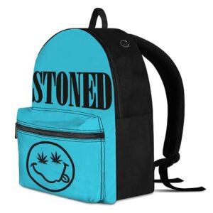 Stoned Smiley Face Marijuana Weed Eyes Dope Blue Knapsack