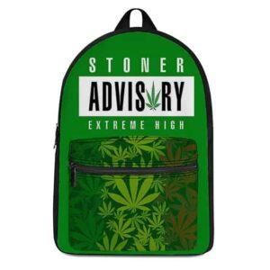 Stoner Advisory Extreme High Sativa Pattern Gnarly Backpack
