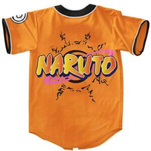 Teen Uzumaki Naruto Awesome Orange MLB Baseball Jersey