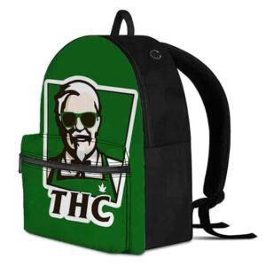 Tetrahydrocannabinol KFC Style Logo Coolest Dopest Backpack
