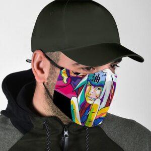 The Great Jiraiya Pop Art Cool Fierce Naruto Cloth Face Mask