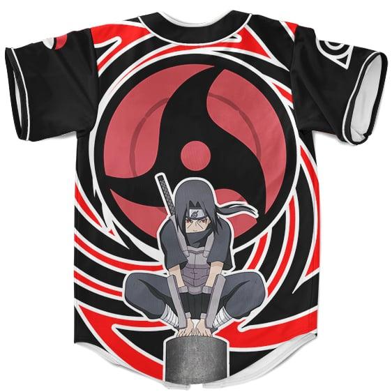 Uchiha Itachi Tsukuyomi Baseball Uniform Black Red Spiral